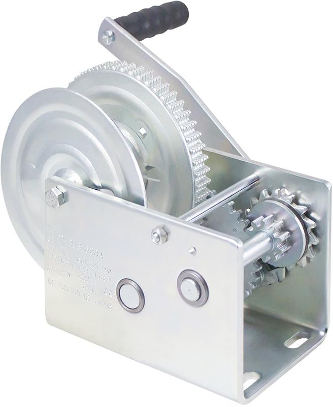 Worm Gear Winch with Split Reel Load Capacity 2000 lb Goldenrod Dutton-Lainson Company WG2000SR